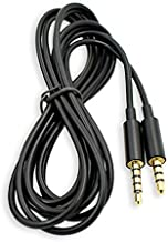 Replacement Astro A10 Cable A40 Cord 3.5mm Upgrade Metal Plug Audio Aux Cables Compatible with Astro A10 A40 A30 A50 Gaming Headset to Xbox One PS4 PC Gaming MixAmp (No Mute and Volume Controls)