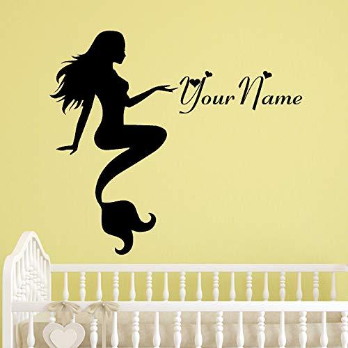 mlpnko Sea Girl Decal Dekoration Wandaufkleber Home Decoration Wohnzimmer Modernes einfaches Schlafzimmer Wandaufkleber Design,CJX12769-30x40cm