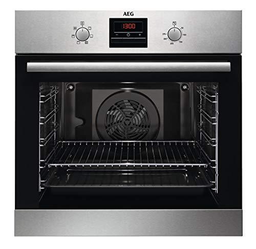AEG BES33101ZM Einbaubackofen/Grillfunktion/Display mit Uhr/A/Edelstahl mit Antifingerprint