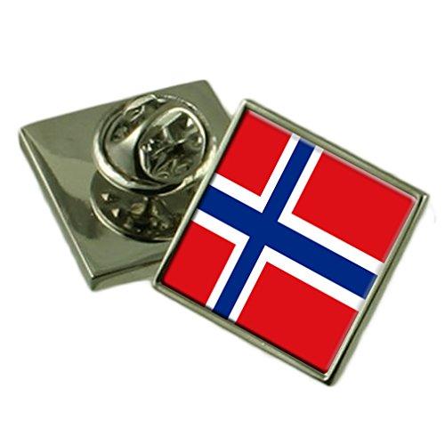 Select Gifts Noruega Bandera Insignia de Solapa de Plata Maciza 925