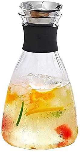 aipipl Taza Tetera Vaso Resistente al Calor para el hogar Botella de Agua fría Taza Blanca fría de Alta Temperatura Agua Abierta Tetera de Gran Capacidad Botella de Jugo Botella de Agua con Hielo T