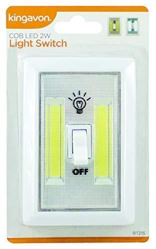 Kingavon COB LED 2W Interruptor de Luz, Blanco