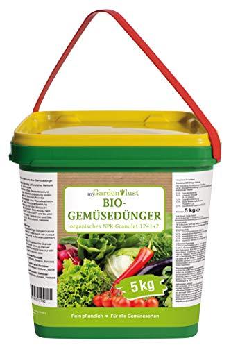 myGardenlust Bio Gemüsedünger – Naturdünger für alle Obst- und Gemüsesorten – Hochbeet-Dünger Öko-Anbau – 5 kg