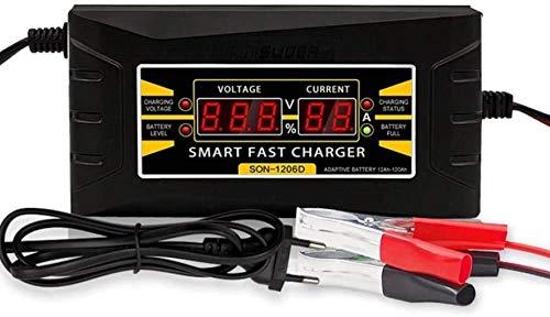 Metdek Cargador de batería de coche, 12 V, automático, inteligente, para coches, furgonetas, barcos, motos