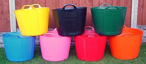 jardin Bucket cheval Trug stockage Pack de 2 42L bleu Flexi baignoire