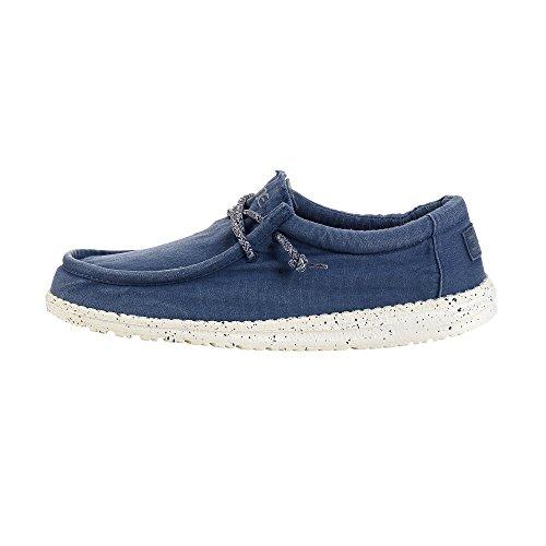 Dude Shoes Männer Wally Gewaschen Stahl Blau UK10 / EU44