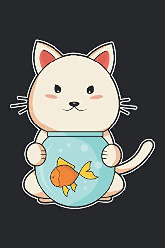 Notizbuch, 120 Seiten: Aquarium - Geschenke - Katzen Notizbuch - Tagebuch für Frauen, Männer und Kinder - 6x9 Zoll (Ähnlich DIN A5) - Kariert