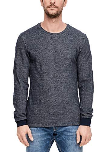 s.Oliver Herren 13.910.31.7008 Langarmshirt, Blue, X-Large (Herstellergröße: XL)