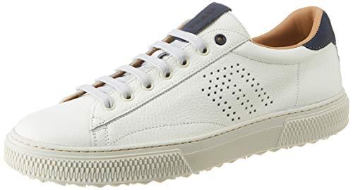 Frau Sneakers, Sneaker Uomo, Bianco (Whiteblu Whiteblu), 41 EU