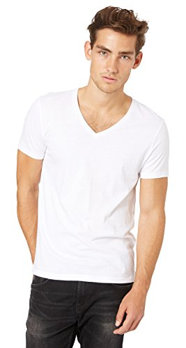 TOM TAILOR DENIM Herren T-Shirt, 2er Pack, Weiß (white 2000), Large