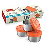 X-Chef Salad Dressing Containers Set, 3X3.4oz, Small Condiment Containers with Silicone Lids,...