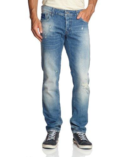 G-STAR Herren Jeans Niedriger Bund 3301 Low Tapered - 50779.5208.3142, Gr. 33/36, Blau (med aged destry 3142)