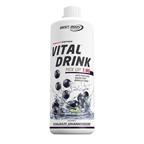 Best Body Nutrition Vital Drink schwarze Johannisbeere, Getränkekonzentrat, 1000 ml Flasche