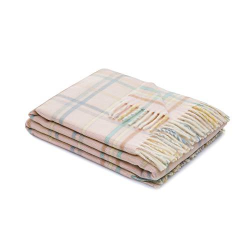 LANEROSSI - Copertina neonato Dolcezza, copertina per lettino, 100% lana lambswool di merinos, 110x150 cm, rosa