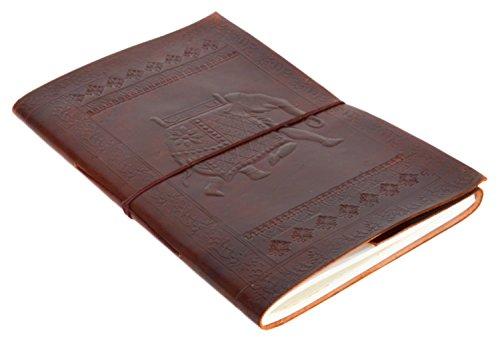 Buch Reisetagebuch Notizbuch Skizzenbuch DIN B4 Braun Leder