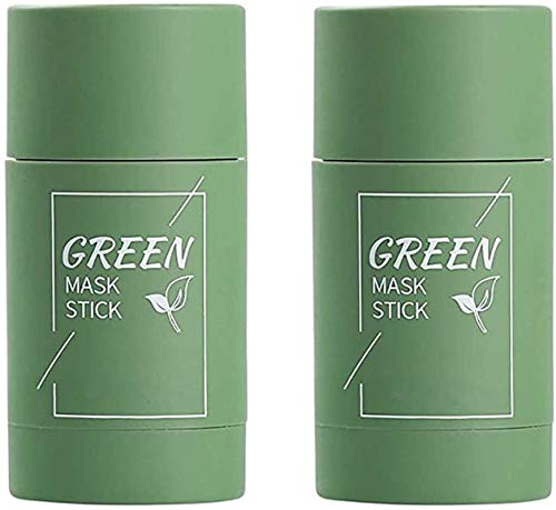 kaidan Green Tea,Acne Removal,Blackhead Removal,Solid Mask,Green Tea/Eggplant Purifying Clay Stick Mask,Oil Control Anti-Acne Eggplant Solid Fine ,Blackhead Removal Mask,for All Skin Types (A)