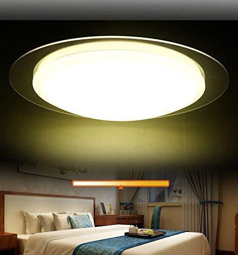 Eurohan GmbH 2042-+3WJ LED Deckenleuchte mit Fernbedienung Lichtfarbe//Helligkeit einstellbar Acryl-Schirm weiß lackierter Metallrahmen Modernes Design Energieeffizienzklasse: A+ Modern 2042+3 Energieklasse A+