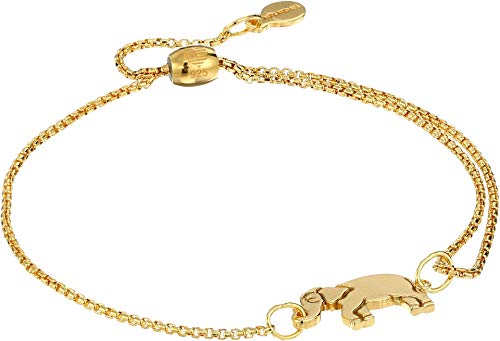 Alex and Ani Women's Elephant Pull Chain Bracelet, 14kt Gold Plated, Expandable