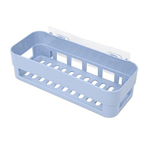 JKAD Organizador De Almacenamiento De Pared, Baño Cocina Esquina Almacenamiento De Pared Almacenamiento Rack Ducha Rack 1psc (Azul)