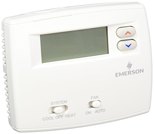 Emerson 1F86 0244 Non Programmable Thermostat 1H/1C, Blue