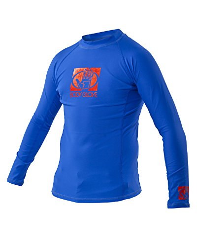 Body Glove Wetsuit Junior Basic Fitted Long Arm Rash Guard, Royal, 6