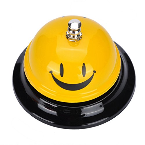Souarts Tischglocke Anruf Bell für Restaurant Küche Hotel Haustier Handglocke Tischklingel
