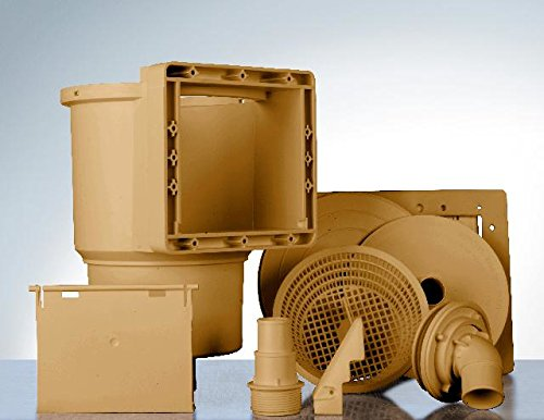 Gre AR100W - Skimmer für Standard-Pools + Ventilantrieb, Farbe braun