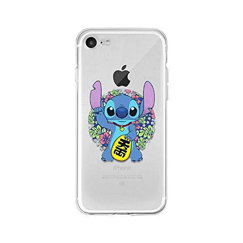 LXXTK Cute Cartoon Lilo Stitch TPU Soft Phone Accessories Cover iPhone Case A6 for Cover iPhone 5 5S SE