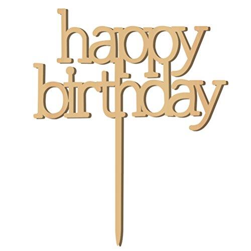 WINOMO Holz Happy Birthday Cake Topper Geburtstag Kuchen Dekorationen