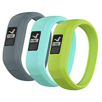 3 Pack  Seltureone Band Compatible for Garmin Vivofit jr,jr 2,3 Bands All-in-one Silicon Stretchy Replacement Watch Bands for Kids Boys Girls Small Large  No Tracker - Cyan,Teal,Lime  Small