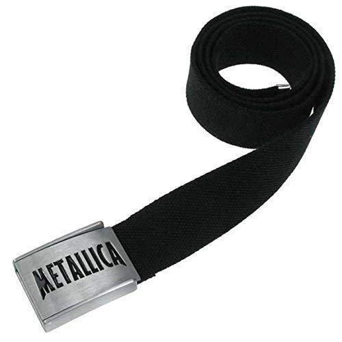 Ceinture en toile avec logo METALLICA licence ceinture en tissu
