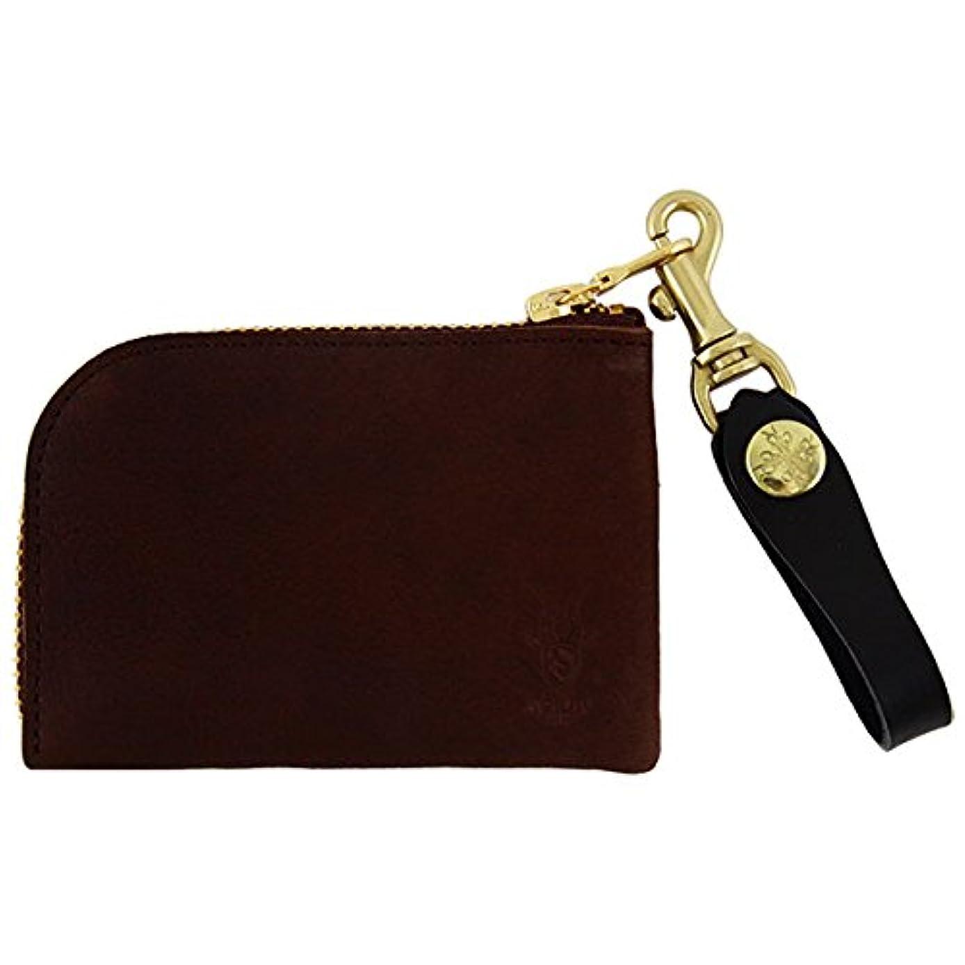 ヘッジ団結するファッションアジリティ ヤク アルジャン L型財布 Agility 革のコインケース L字ファスナー 日本製 ダークブラウン