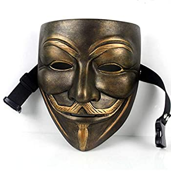 V for Vendetta Mask Anonymous Guy Masks for Halloween Cosplay Costume Party Resin Masks