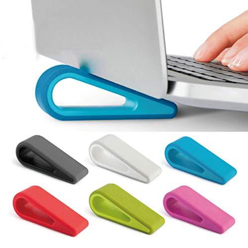 NUOBESTY Mini radiatore supporto per laptop laptop 2pcs supporto di sollevamento cavo regolabile supporto per notebook (bianco)