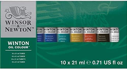 Winsor & Newton Winton Oil Colour Paint Basic Set, Ten 21ml Tubes