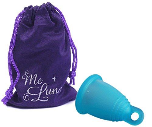 Me luna - Meluna - copa menstrual azul, soft, anillo, talla- m