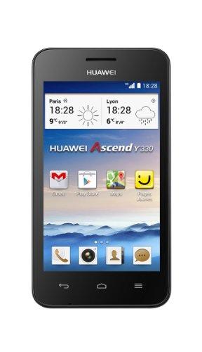 Huawei Ascend Y330 Smartphone (10,1 cm (4 Zoll) TFT-Touchscreen, 3 Megapixel Kamera, 4 GB Interner Speicher, Android 4.2) schwarz