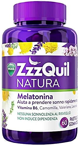 Vicks Zzzquil Natura Integratore Alimentare Senza Glutine 60 Pastiglie