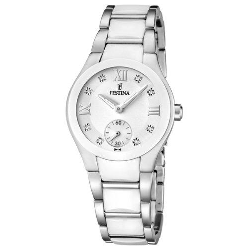 Festina Damen Analog Quarz Uhr mit Keramik Armband F16588/2