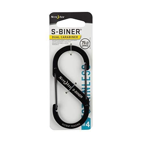 Nite Ize S-Biner Size 4 SB4-03-01 Nite IZE, Moschettone a S, Nero Schwarz, 4