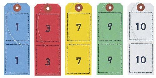 (まとめ買い) オープン工業 連番荷札 1-100 5組 BF-105 【×3】
