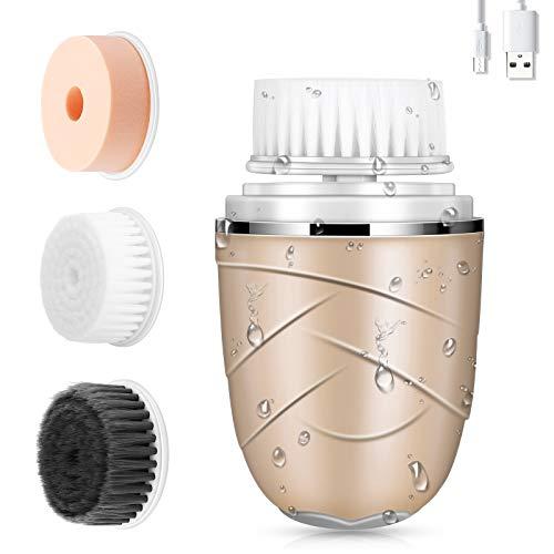 Cepillo de Limpieza Facial 3 en 1Limpiador Facial Impermeable, Eléctrico Masajeador Facial...
