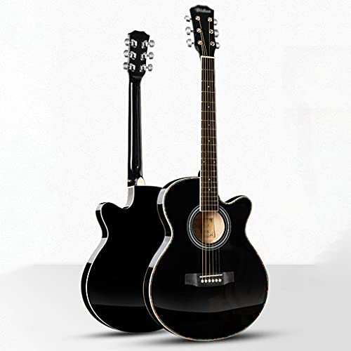 XYF 40-Zoll-Gitarren-E-Box Folk-Gitarre Dünne Barrel-Gitarre Akustikgitarre Für Anfänger Jungen Und Mädchen Üben Klavier Practicing (Color : A, Size : 40 inches)