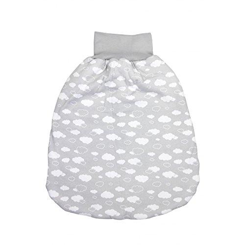 TupTam Baby Unisex Strampelsack mit breitem Bund Wattiert, Farbe: Wolken Grau, Größe: 6-12 Monate