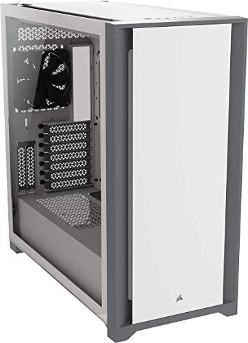 Corsair 5000D Mid-Tower-ATX-PC-Gehäuse mit Gehärtetem Glas (Frontverkleidung aus Robustem Stahl, RapidRoute-Kabelführungssystem, Zwei Enthaltene 120-mm-Lüfter, Anpassbaren Lüfterhalterungen) Weiß