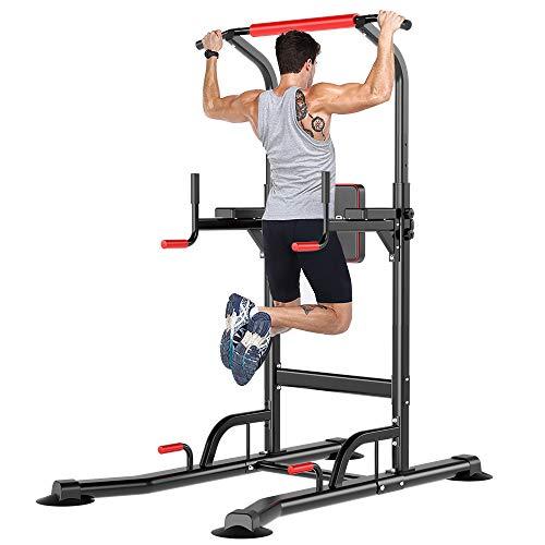 YOLEO Chaise Romaine Barre de Traction Musculation Station Traction Dips pour lentraînement à la Maison