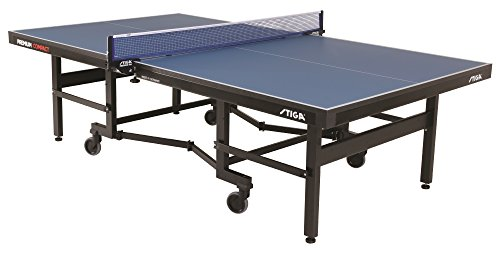 STIGA Premium ITTF Approved Compact Tennis Table – Folds to Minimal Storage...
