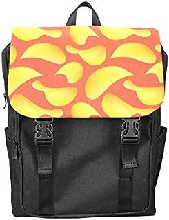 Fashion Flip Cover Notebook Potato Chips Snacks Thin and Crisp Print Laptop Backpack Travel Men Women Business Computer Backpack Oxford Fabric Vintage School Shoulder Bag