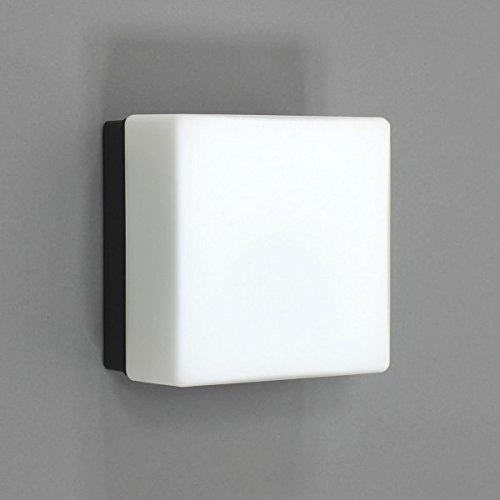 BEGA 66658 (6658) Decken-/Wandeleuchte quadratisch grafit 1xE27 AGL max 75W ohne Leuchtmittel