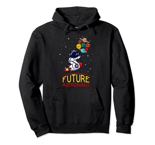Futuro astronauta con planetas Astronomía para niños Sudadera con Capucha